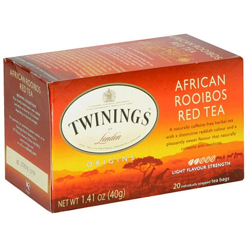 Twinings of London Pure Rooibos Herbal Red Tea Bags, 20 - Twining Tea Rooibos
