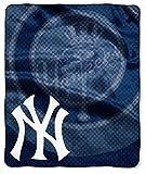 """MLB New York Yankees Retro Plush Raschel Throw, 50"""" x 60"""""""