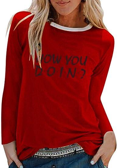 Mujer Casual Sudaderas Rayas Arcoiris Cortas Adolescentes Chicas Manga Larga Tumblr Patchwork Sudadera con Cuello Redondo Casual Tops Blusas Camiseta: Amazon.es: Ropa y accesorios