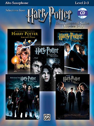 Harry Potter Instrumental Solos (Movies 1-5): Alto Sax, Book & CD (Pop Instrumental Solos Series)