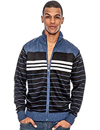 Men's Long Sleeve Casual Striped Winter Sweater Cold Weather Top Layer