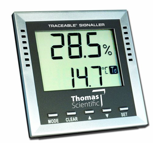 Thomas Traceable Dew-Point/Wet-Bulb/Humidity/Temperature Alarm, -40 to 158 degree F, -40 to 70 degree C, 1 to 99% RH