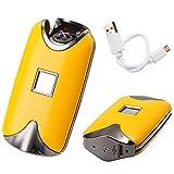 Hair Salon Details about Fingerprint Touch USB Rechargeable Dual Arc Flameless Plasma Electric Lighter - Yellow