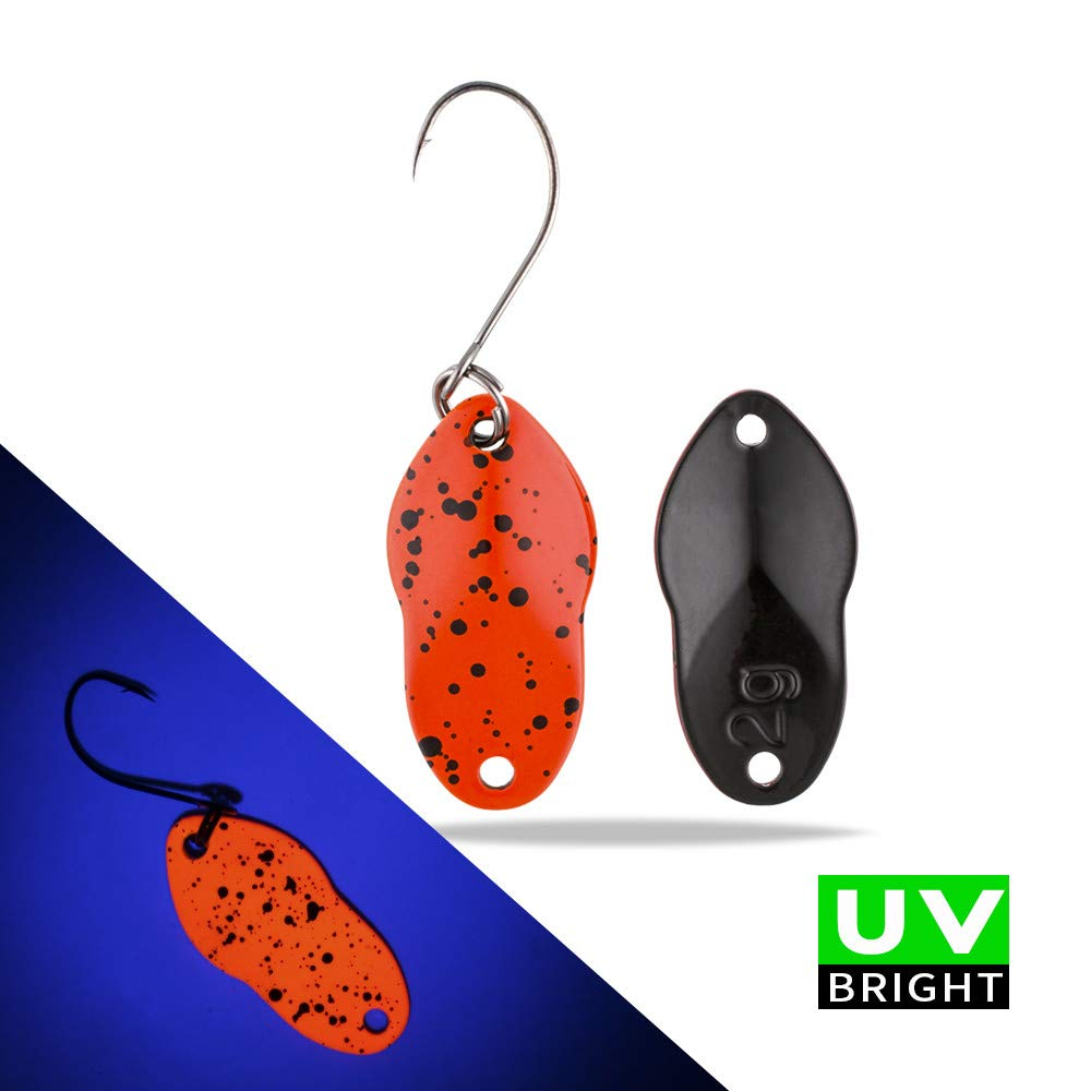 Tomic Capricorn UV Puntino Colori Ottone Marino Vibrazione Ultraleggero Metallo Duro Esca Trote Spinner Oscillare Micro Pesca da Cucchiaino