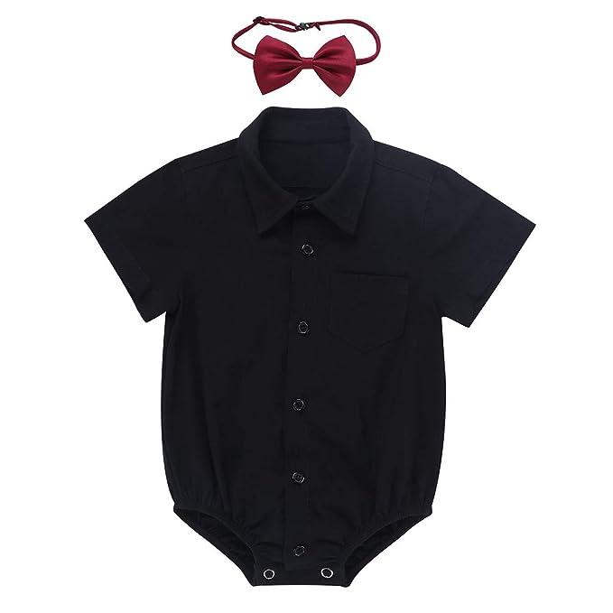 Alvivi Pelele Recien Nacido con Corbata Disfraz Bebé de ...