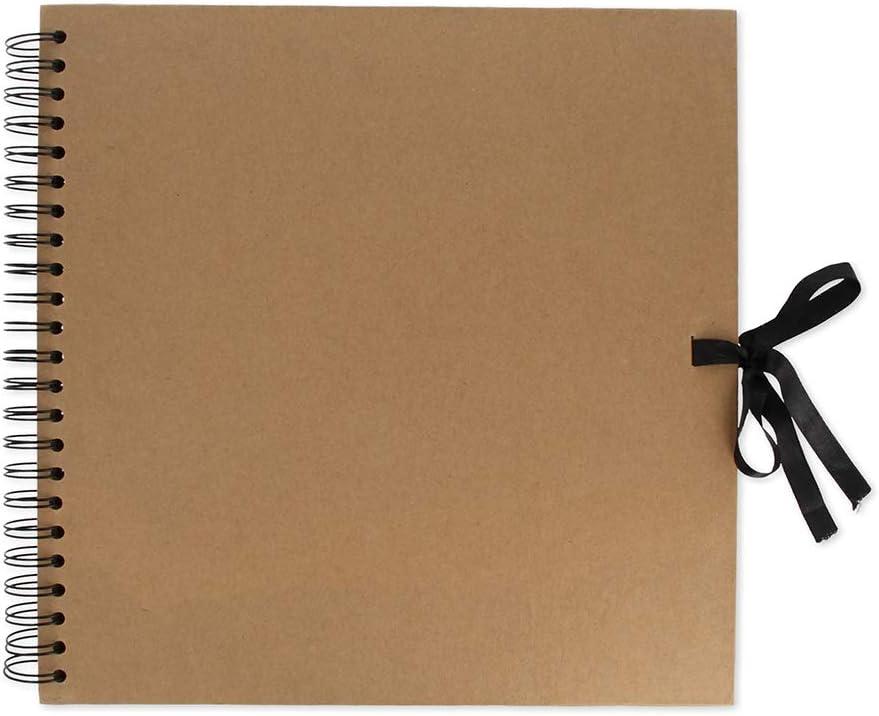 Artemio en espiral, 20 x 20 cm color blanco /Álbum de recortes