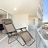Kawachi Folding Zero Gravity Reclining Chair With Adjustable Headrest For Patio Garden-K356