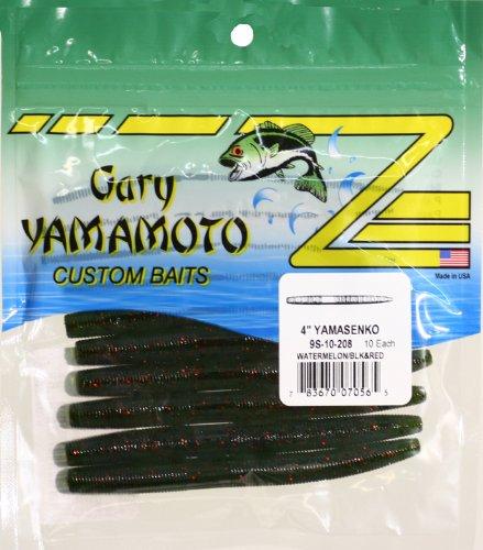 Yamamoto Senko Bait, Watermelon Black Red Flake, 4-Inch, Outdoor Stuffs