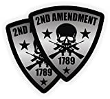 2nd Amendment Shield Hard Hat Sticker / Decal | Label Tool Lunch Box Motorcycle Helmet AR-15 5.56 AR15
