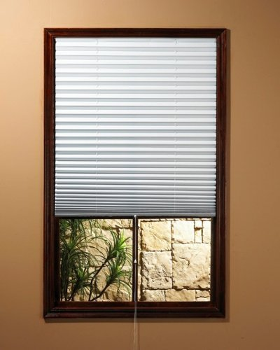 "Achim ""1-2-3 Shade"" Vinyl Room Darkening Temporary Pleated Shades 36″ Wide X 75″ Long (6 Pack)"