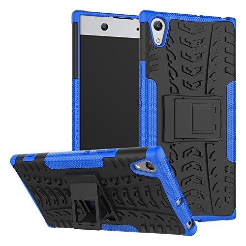 OFU®Para Sony Xperia XA1 5.0 Smartphone, Híbrido caja de la armadura para el teléfono Sony Xperia XA1 5.0 resistente a prueba de golpes contra la lucha de viaje accesorios esenciales del teléfono-bl azul