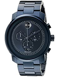 Movado Men's 3600279 Blue Stainless Steel Watch