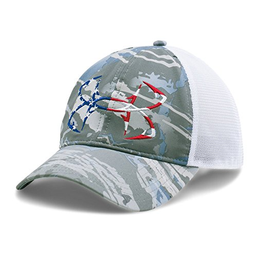 Under Armour Men's UA Camo Fish Hook Cap, Ridge Reaper Camo Hy (927)/White, One Size Fits All (White Camo Under Armour Hat)