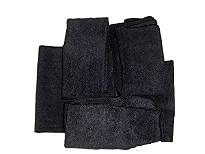 5-pack of Black Professional Quality 300 GSM All Purpose Microfiber Towels.