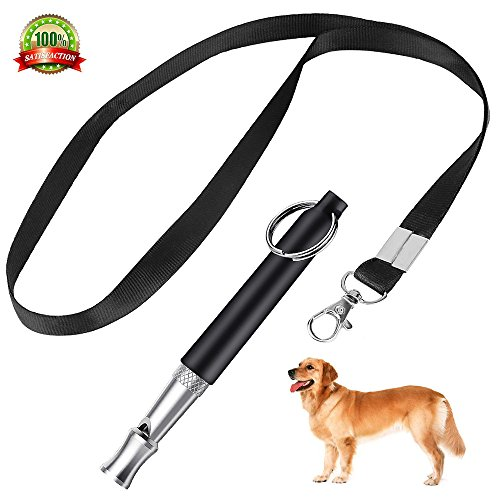 Edworder Dog Whistle to Stop Barking, Dog Training Whistle with Free Strap Adjustable Pitch Ultrasonic Training Tool Silent Bark Control for High Frequency Dog Training Aide Fetch, Sit, Stand, Come