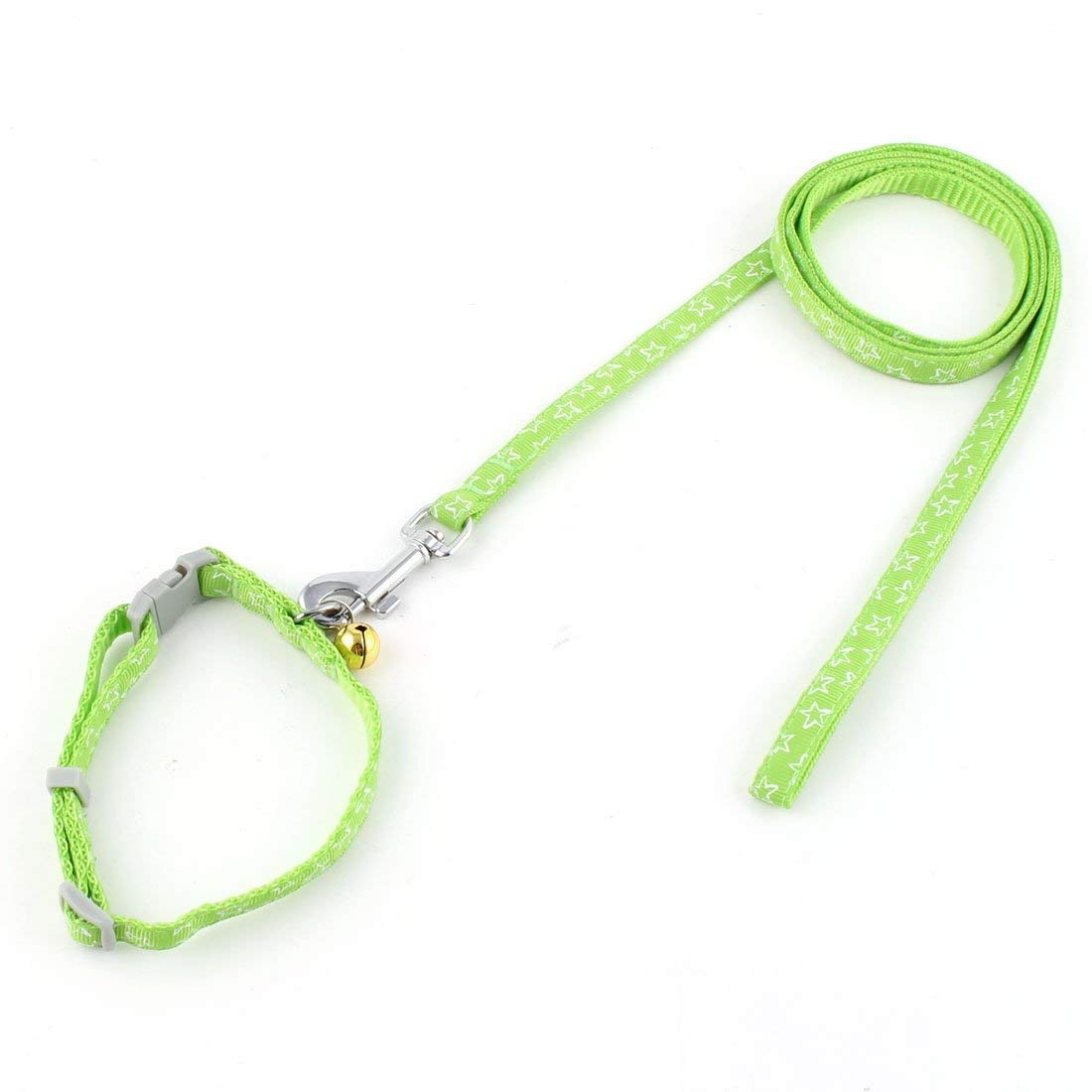 1Pc Green   Puppy Dog Pet Bell Decor Star Pattern Collar Walking Training Lead Rope Leash