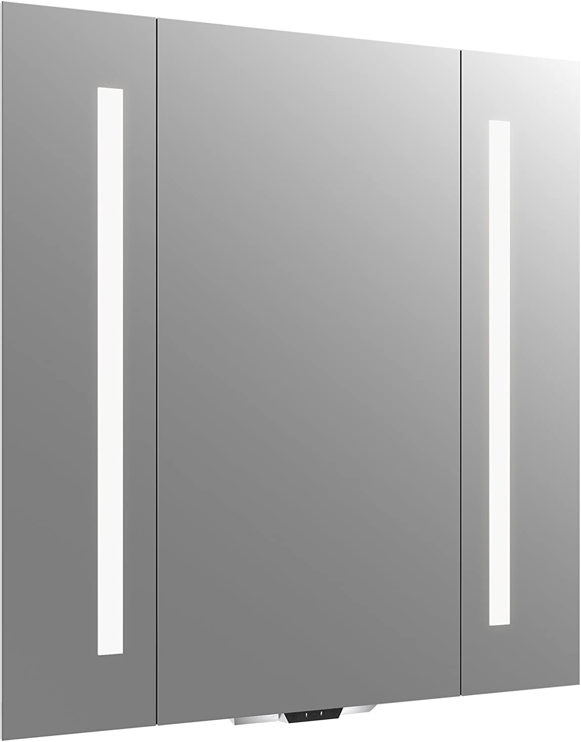 "Vanity Mirror with Lights by KOHLER, Bathroom Vanity Mirror with Amazon Alexa, Verdera Voice Collection, 34"" Wide By 33"" High, K-99572-VLAN-NA"