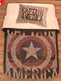 Marvel Captain America Twin XL Quilt and Sham Childrens Bedding