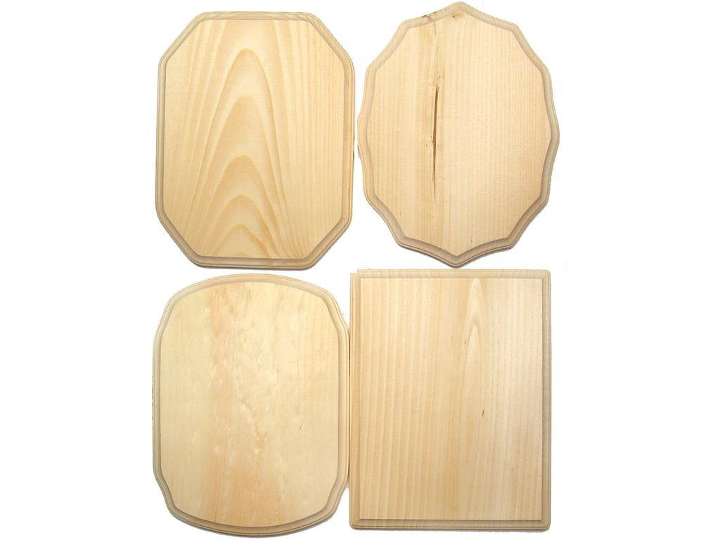 Demis Wood Plaques DEM500B 36Piece Bulk 9x12'' Arts And Crafts Supplies