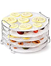 AIEVE Air Fryer Dehydrator Rack with Silicone Dehydrator Sheets, Stainless Steel Dehydrator Stand Air Fryer Rack Compatible with Ninja Foodi Air Fryer 6.5qt and 8 qt, Instant Pot Air Fryer 8 qt.