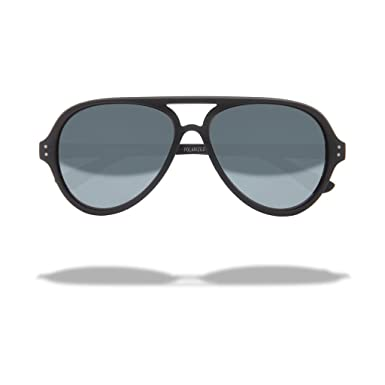 798920a294 Local Supply Unisex Airport Pacific Black   Silver Mirror Sunglasses