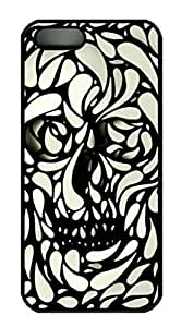 customize diy Cool Design Skull Printed Hard Plastic Case Shell Cover for iphone 5 5S Black PC Material ka ka case