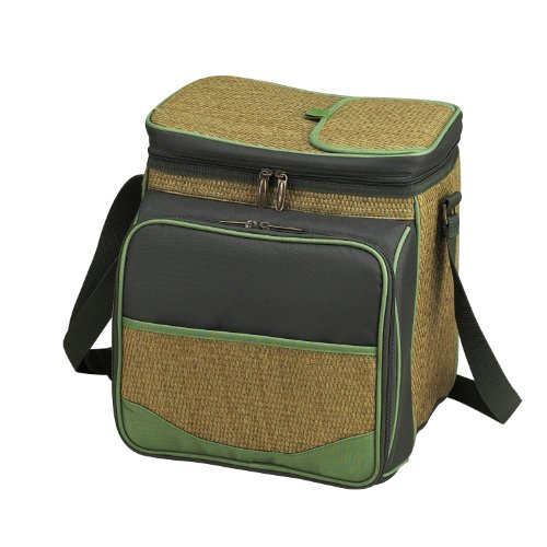 Picnic at Ascot Insulated Picnic Basket/Cooler Fully Equipped with Service for 2 - Forest Green