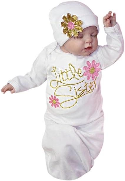 Ropa de bebé, Dorame recién nacido bebé pijamas niña bordado ...