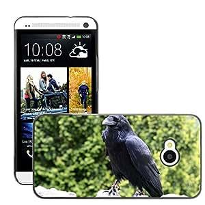 Super Stellar Slim PC Hard Case Cover Skin Armor Shell Protection // M00126282 Animal Beak Bird Black Claw Crow // HTC One M7