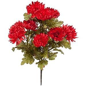OakRidge Artificial Mum Bush Silk Floral Décor 11