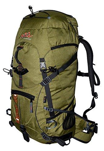 Rucksack 40L TASHEV EIGER Kletterrucksack aus Cordura Trekking Rucksack Daypack 40 Liter (Grün)