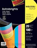 Wausau  Astrobrights Wide Ruled Filler Paper Assortment, 100 Count, 8 X 10.5 Inches (25910), Office Central