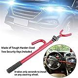 Universal Anti-Theft Car Steering Wheel Lock Auto Steering Wheel Security Lock for Cars, Pickup Trucks, Minivans & SUVs