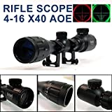 UniqueFire 4-16x40AOE Red & Green Scope Long Range Hunting Scope Sight W/Mount