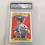 #9: 1989 Topps All Star Don Mattingly Signed Autographed Baseball Card PSA DNA COA