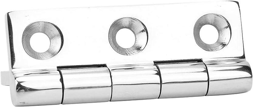 MAGT Bisagras de Puerta Acero Inoxidable 316 Rectangular 5 Piezas Bisagra de 6 Orificios para gabinete de yate de Barco Silenciador de cojinete de Puerta