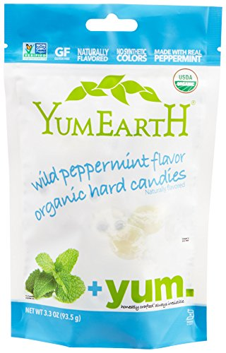 YumEarth Organic Wild Peppermint Hard Candy, 3.3 Ounce Pouches (Pack of 6) by YumEarth