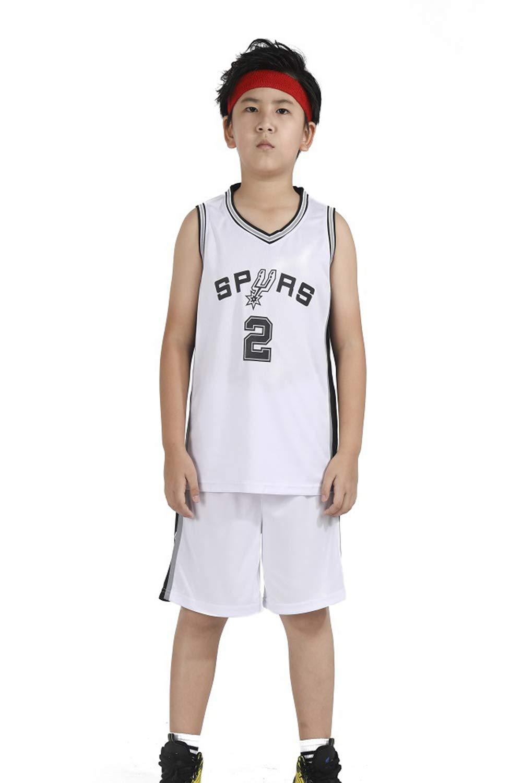 DEBND Niño NBA Spurs 2# Leonard Retro Pantalones Cortos de ...