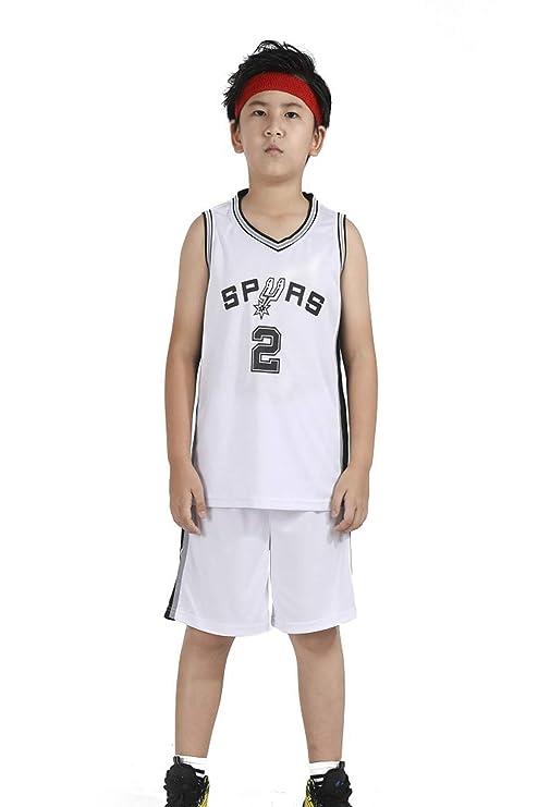 OLIS Niño Ropa de Baloncesto NBA Spurs 2# Leonard Retro Pantalones ...
