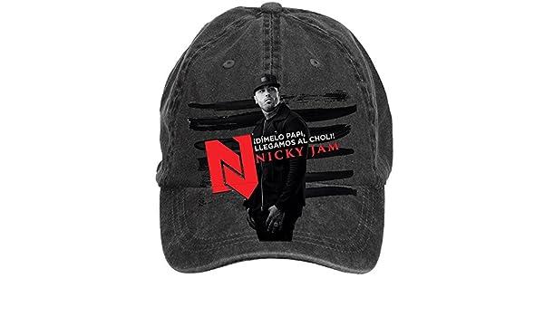 Shkdg Nicky Jam Dimelo Papi Mens Retro Custom Washable Adjustable ...