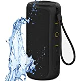 Aneerx Portable Bluetooth Speakers 100% IPX7 Waterproof, 12W Dual Drivers & Rich Enhanced Bass, Built in Mic for Hands free Calling, Surround Outdoor Loud Wireless Speaker, 360 Sound, Home, Shower