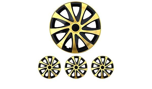 Tapacubos - Tapacubos Tapacubos DRACO bicolor negro de oro 14 ...