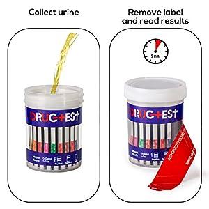"""New"" Kassac Laboratories Drug Test Cup, Testing Instantly for 12 Different Drugs; - Marijuana (Thc) - Cocaine (Coc) - Opiate (Opi) - Methamphetamine (Met) - Oxycodone (Oxy) - Amphetamine (Amp) - Barbiturates (Bar) - Benzodiazepines (Bzd) - Methadone (Mad"