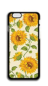 Hard Plastic and Aluminum Back iphone 6 cases 4.7 - Sunflower pattern