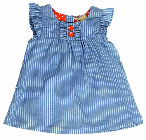 sissymini Girls Toddler Beautiful Denim Paisley Jumper - (Size 2T,3T,4T) (Denim Stripe, - Dress Warehouse Paisley
