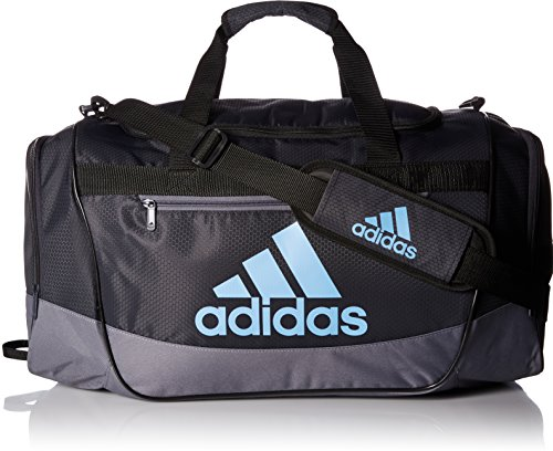 adidas Defender III Duffel Bag, Night Grey/Onix/Collegiate Light Blue, (3 Way Flashlight)