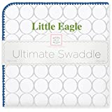 SwaddleDesigns Ultimate Swaddle Blanket, Made in USA Premium Cotton Flannel, Florida Gulf Coast University, Little Eagle (Mom's Choice Award Winner)