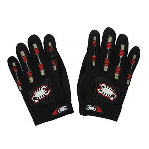 SODIAL(R) Pair Sports Motorcycle Racing Bicycle Cycling Full Finger Gloves