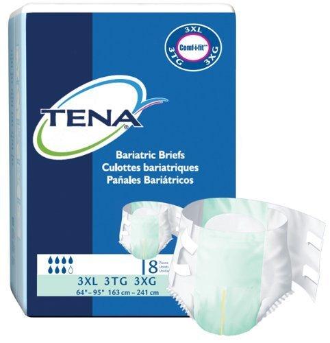 Amazon.com: Tena Bariatric Briefs, 3XL, Full Case of 32 Briefs (231-7493) by TENA: Health & Personal Care