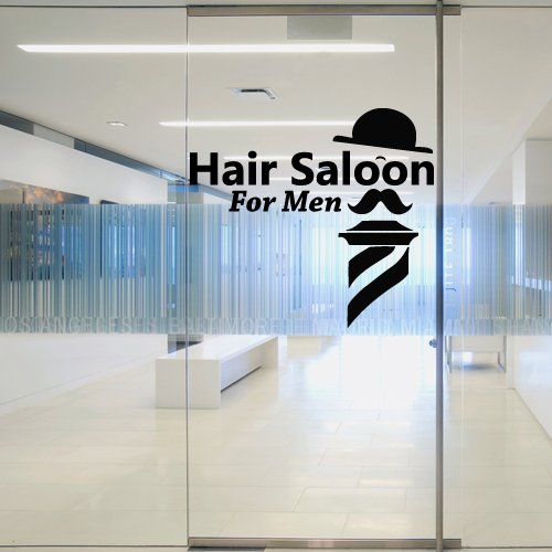 Wall Decal Hair Salon for Men Best Haircut Hairstyle Barber Shave Scissors 1438